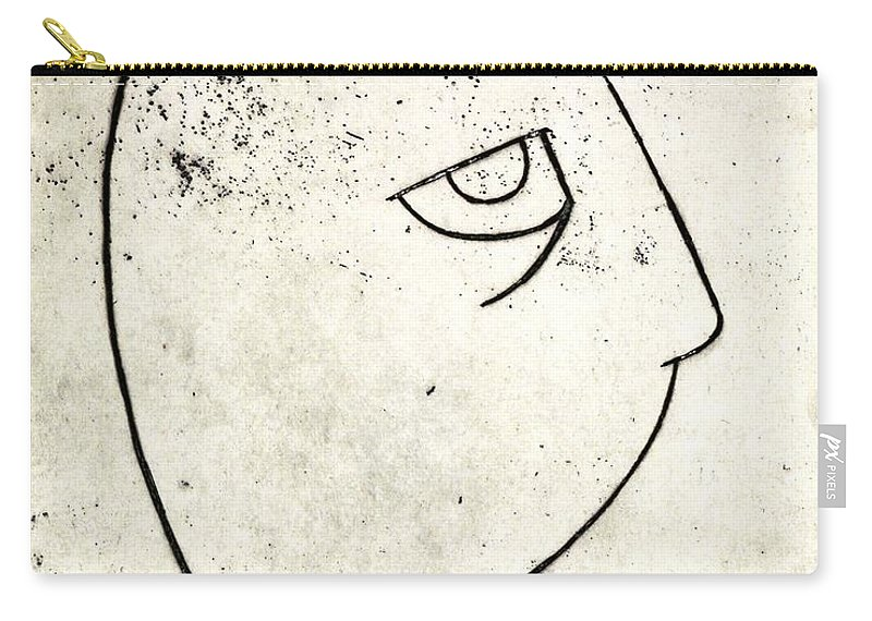 Clay Carry-all Pouch featuring the painting man by Thomas Valentine