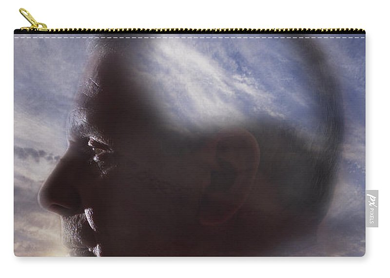 Science Carry-all Pouch featuring the photograph Man With Alzheimers Disease by George Mattei