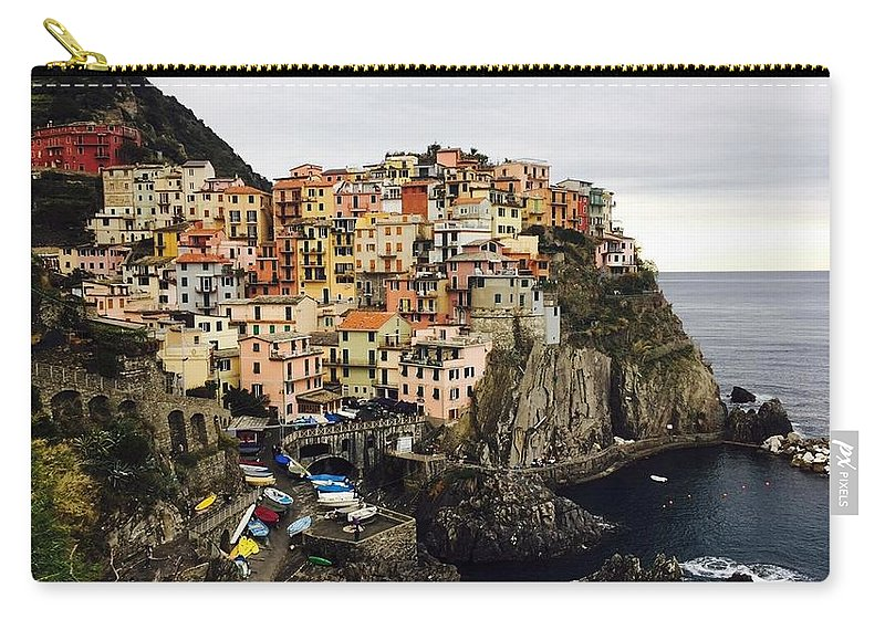 Manarola Carry-all Pouch featuring the photograph Manarola by Abigail Scott