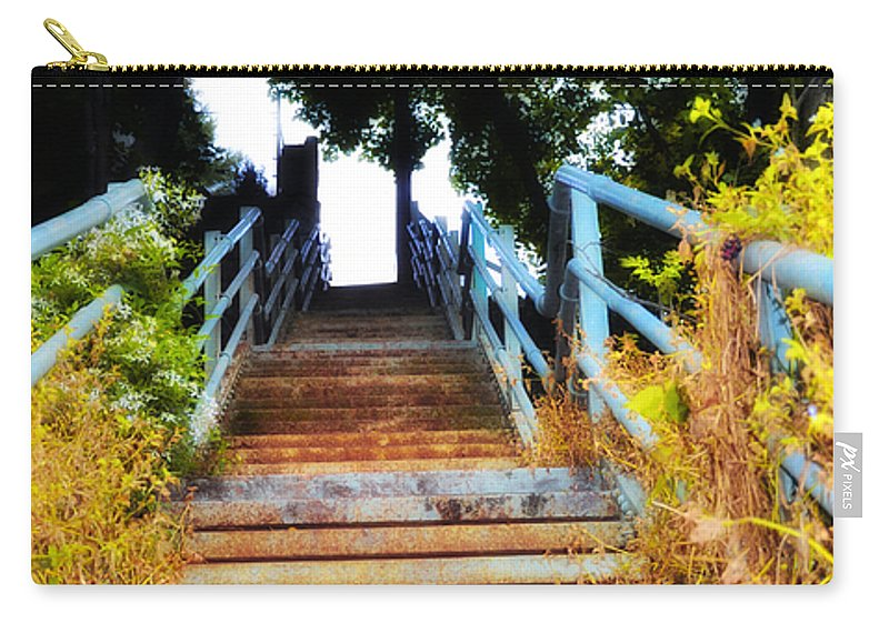 Manayunk Carry-all Pouch featuring the photograph Manayunk Steps by Bill Cannon
