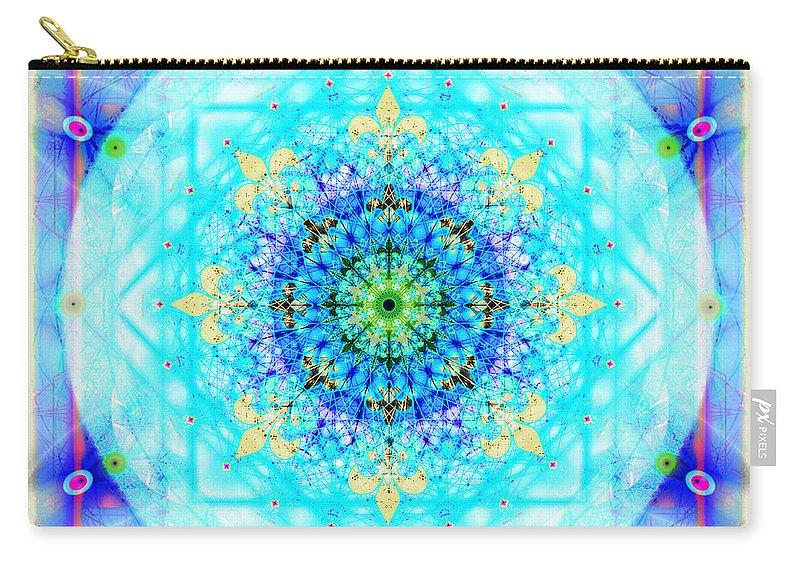 Mandala Carry-all Pouch featuring the digital art Mandala of Womans Spiritual Genesis by Stephen Lucas