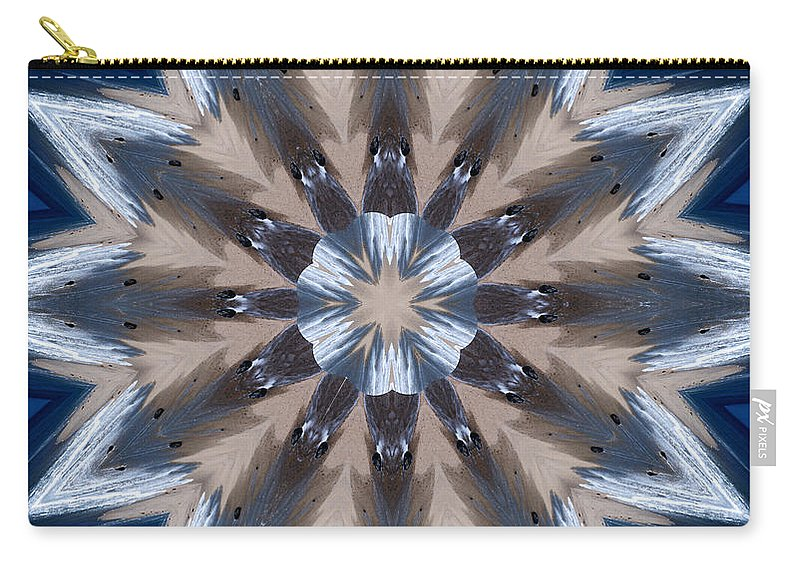 Mandala Carry-all Pouch featuring the photograph Mandala Sea Star by Nancy Griswold
