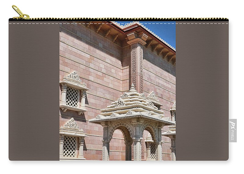 Religion Carry-all Pouch featuring the photograph Mandir # 2 by Allen Beatty