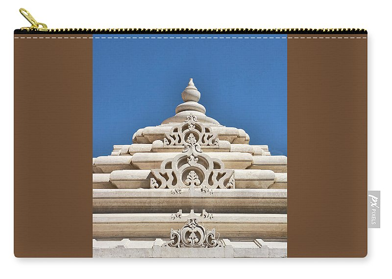 Religion Carry-all Pouch featuring the photograph Mandir # 3 by Allen Beatty