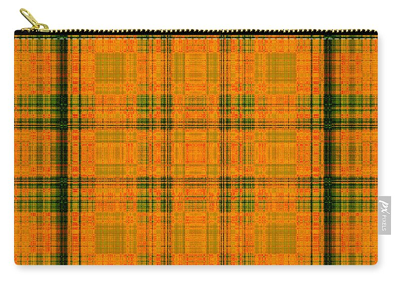 Design Carry-all Pouch featuring the digital art Mandoxocco-wallpaper-orange-green by Mando Xocco