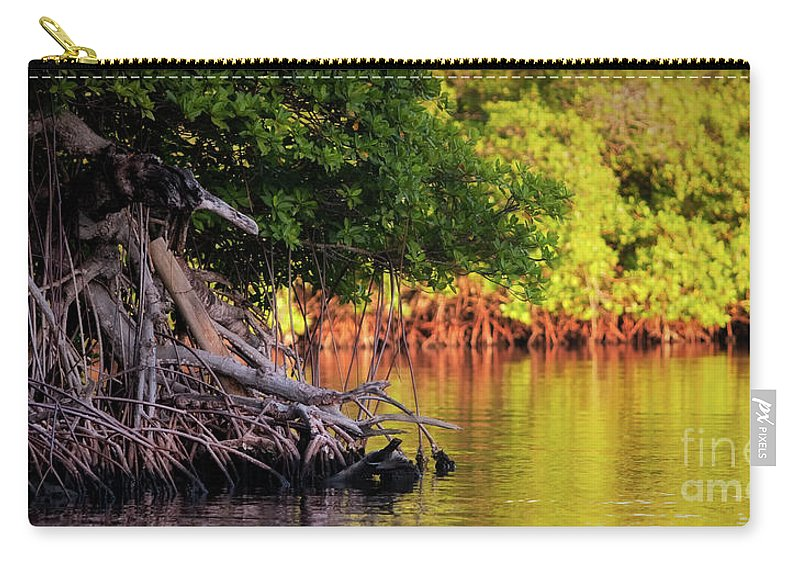 Roatan Carry-all Pouch featuring the photograph Mangroves Of Roatan by Doug Sturgess