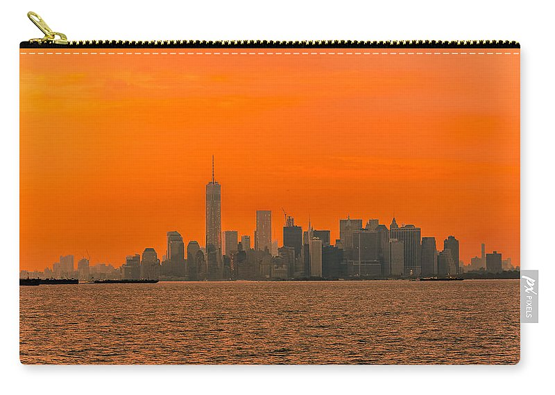 Atlantic Coastline Carry-all Pouch featuring the photograph Manhattan At Sunset by Michael Goodin