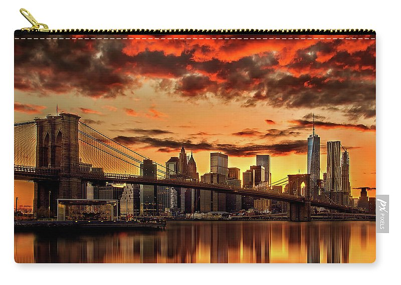 New York City Carry-all Pouch featuring the photograph Manhattan BBQ by Az Jackson