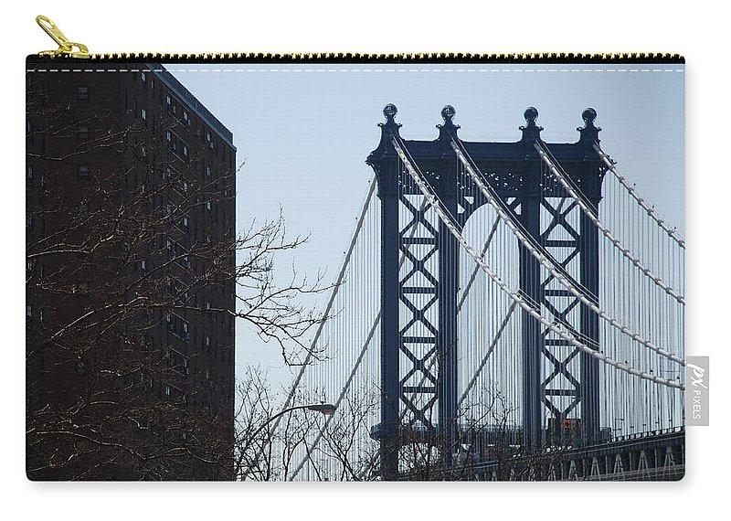 Manhattan Carry-all Pouch featuring the photograph Manhattan Bridge by Rob Hans