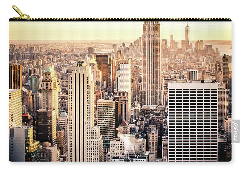 Nyc Carry-all Pouch featuring the photograph Manhattan by Michael Weber