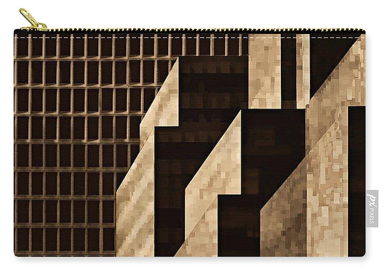 New York Carry-all Pouch featuring the digital art Manhattan No. 3 by Joe Bonita