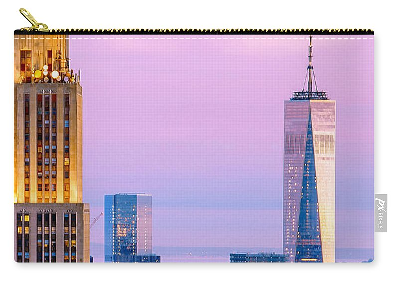 Empire State Building Carry-all Pouch featuring the photograph Manhattan Romance by Az Jackson