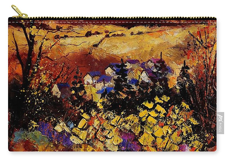 Landscape Carry-all Pouch featuring the painting Manhay 56 by Pol Ledent