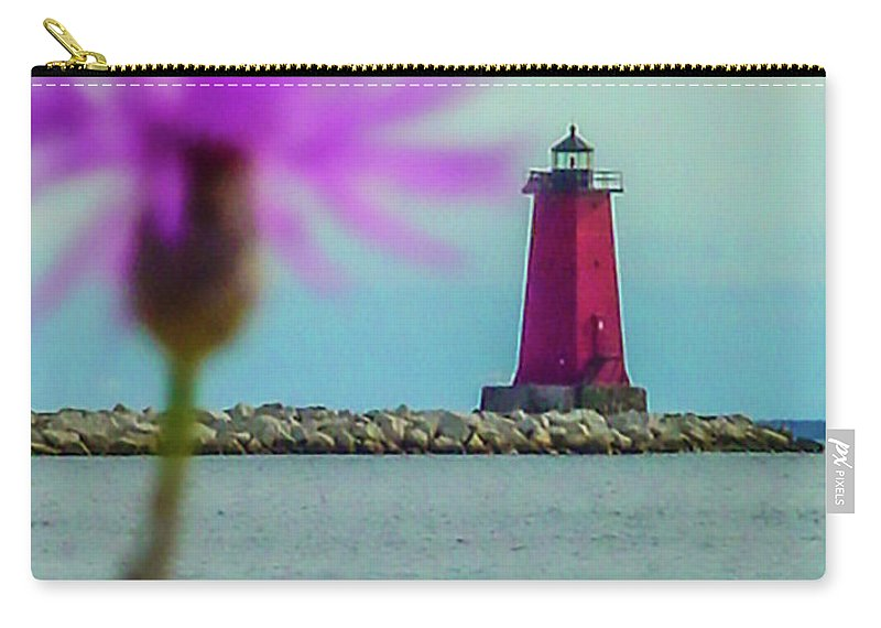 Manistique Carry-all Pouch featuring the photograph Manistique by Craig David Morrison