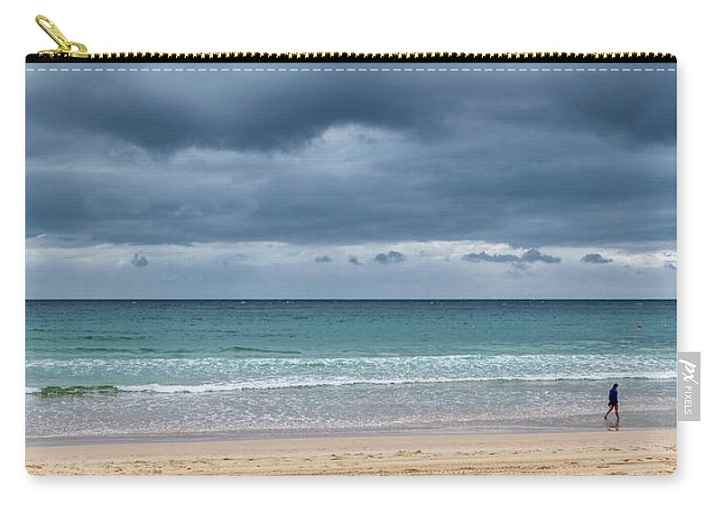 Manly Beach Carry-all Pouch featuring the photograph Manly Beach by Steven Richman