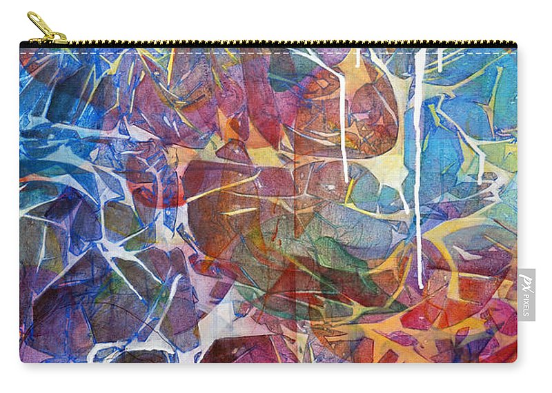 Abstract Carry-all Pouch featuring the painting Manna by Arlissa Vaughn