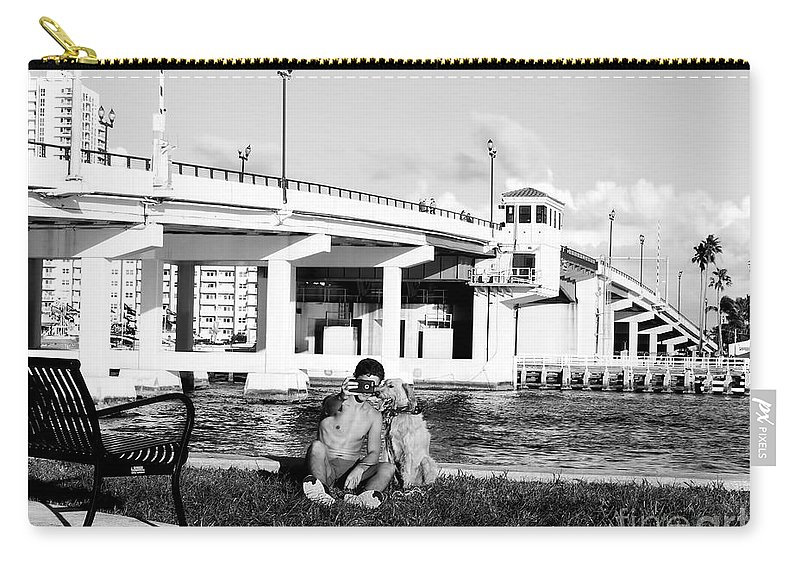 Dog Carry-all Pouch featuring the photograph Man's Best Friend by Carlos Amaro