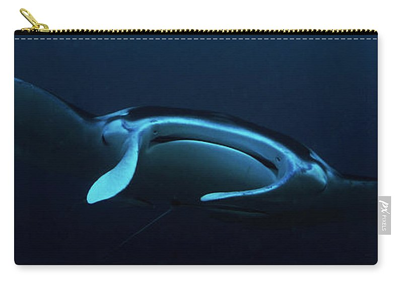 Manta Carry-all Pouch featuring the photograph From The Depths by Mumbles and Grumbles