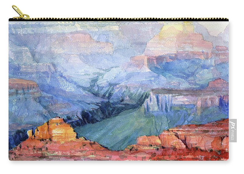 Grand Canyon Carry-all Pouch featuring the painting Many Hues by Steve Henderson