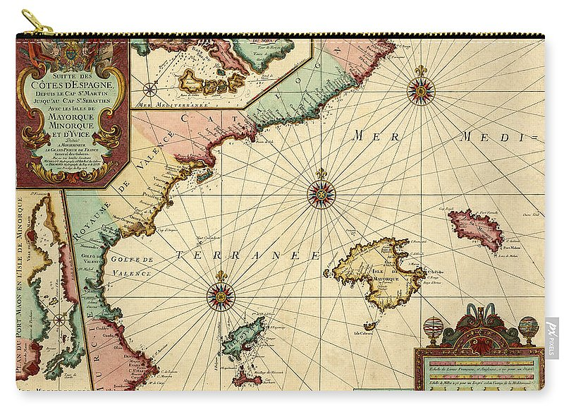 Map Of Spain For Sale.Map Of Spain 1723 Carry All Pouch