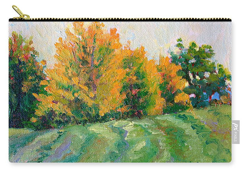 Impressionism Carry-all Pouch featuring the painting Maple Grove by Keith Burgess