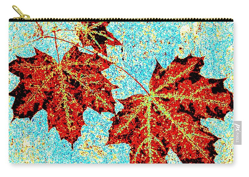 Cheerful Carry-all Pouch featuring the digital art Maple Mania 13 by Will Borden