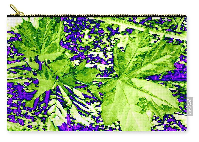Maple Leaves Carry-all Pouch featuring the digital art Maple Mania 19 by Will Borden
