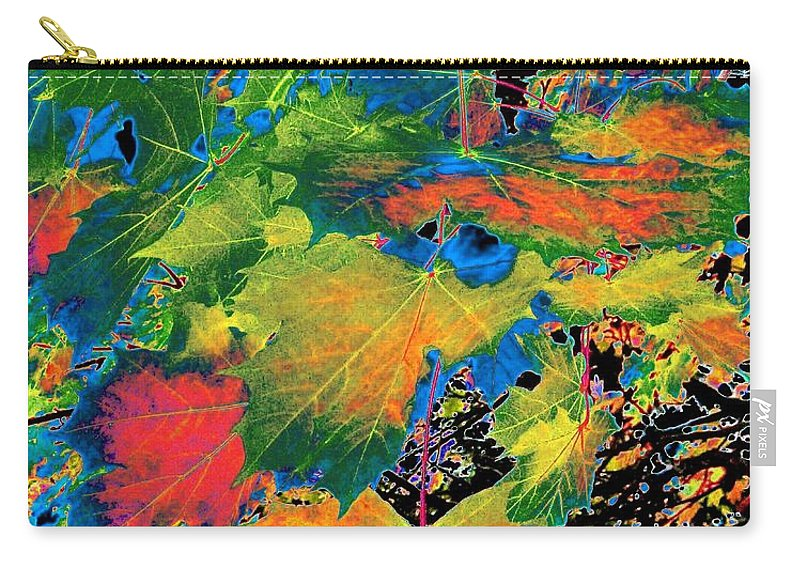 Photo Design Carry-all Pouch featuring the digital art Maple Mania 3 by Will Borden