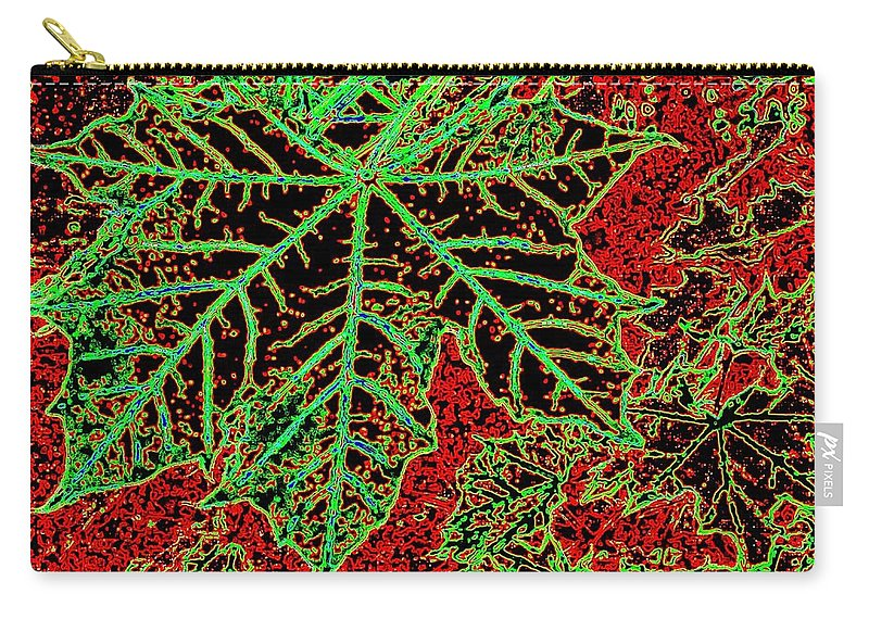 Cheerful Carry-all Pouch featuring the digital art Maple Mania 7 by Will Borden
