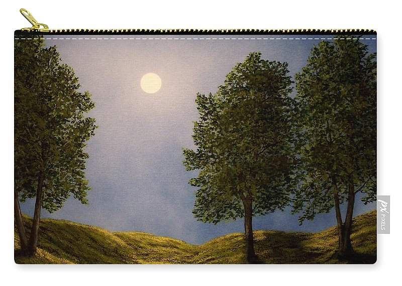 Mountains Carry-all Pouch featuring the painting Maples In Moonlight by Frank Wilson