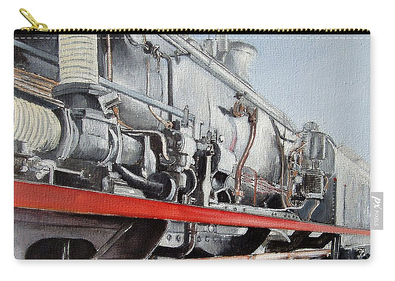 Train Carry-all Pouch featuring the painting Maquina De Vapor by Tomas Castano