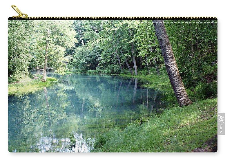 Maramec Springs Park Carry-all Pouch featuring the photograph Maramec Springs 1 by Marty Koch