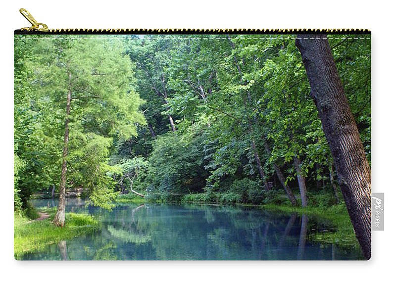 Maramec Springs Park Carry-all Pouch featuring the photograph Maramec Springs 2 by Marty Koch