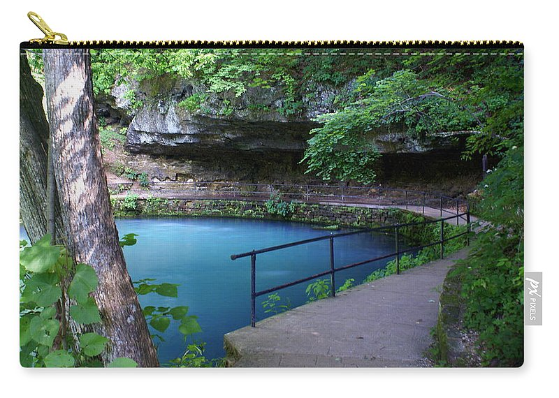 Maramec Springs Park Carry-all Pouch featuring the photograph Maramec Springs 3 by Marty Koch
