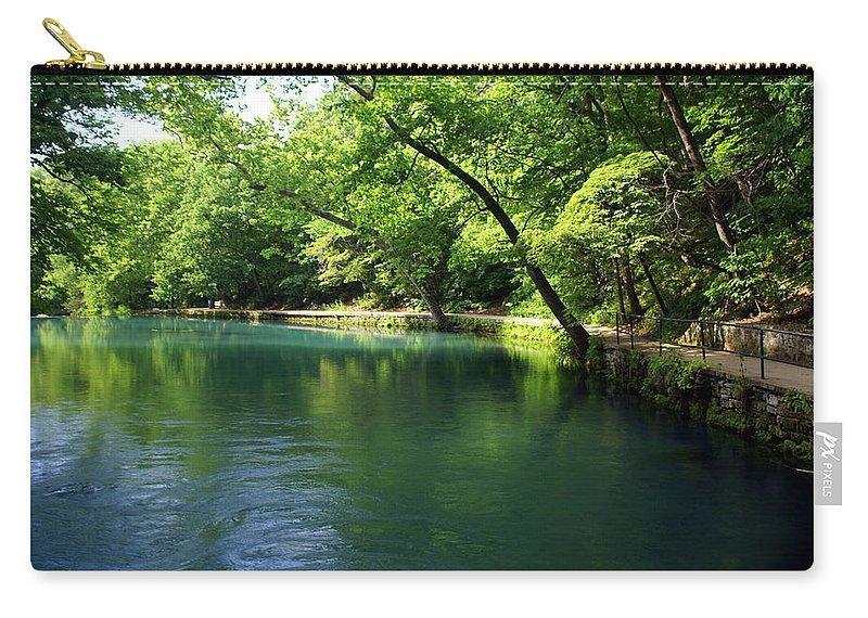 Maramec Springs Park Carry-all Pouch featuring the photograph Maramec Springs 4 by Marty Koch