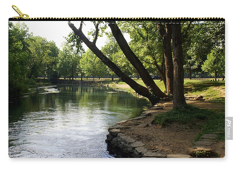 Maramec Springs Park Carry-all Pouch featuring the photograph Maramec Springs 5 by Marty Koch