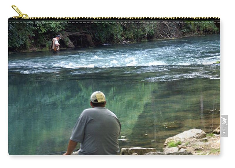 Maramec Springs Park Carry-all Pouch featuring the photograph Maramec Springs 6 by Marty Koch