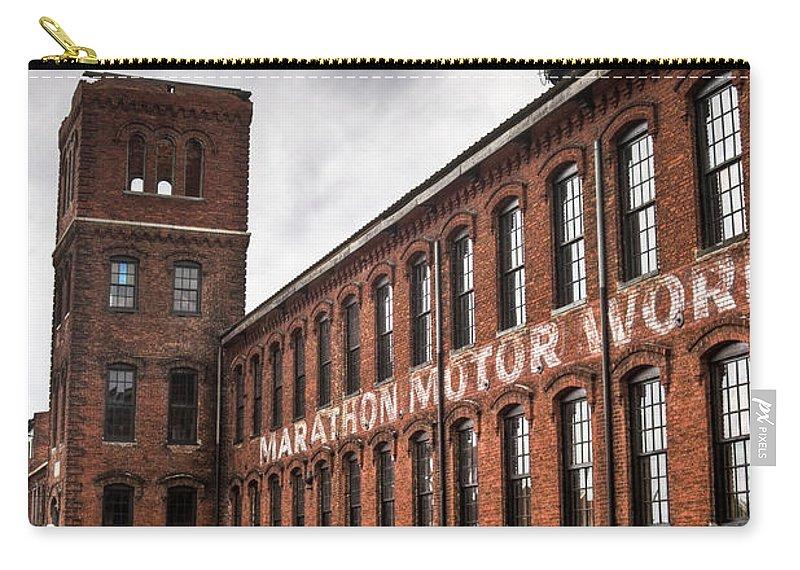 Marathon Carry-all Pouch featuring the photograph Marathon Motor Cars Building by Douglas Barnett