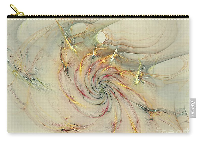 Sold Carry-all Pouch featuring the digital art Marble Spiral Colors by Deborah Benoit