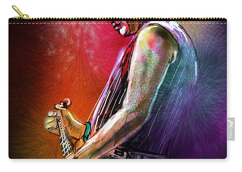 Marc Pearson Portrait Carry-all Pouch featuring the digital art Marc Pearson by Miki De Goodaboom