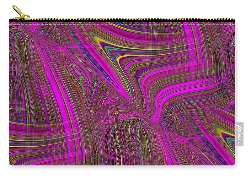 Abstract Carry-all Pouch featuring the digital art Mardi Gras 3 by Tim Allen