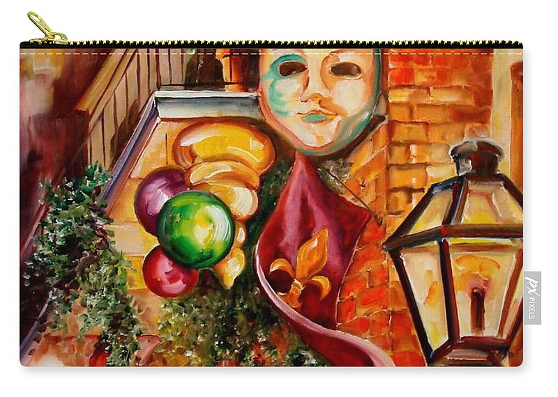 New Orleans Carry-all Pouch featuring the painting Mardi Gras Night by Diane Millsap