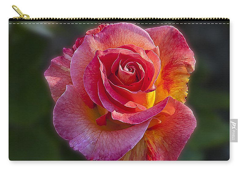 Mardi Gras Carry-all Pouch featuring the photograph Mardi Gras Rose by Emerald Studio Photography