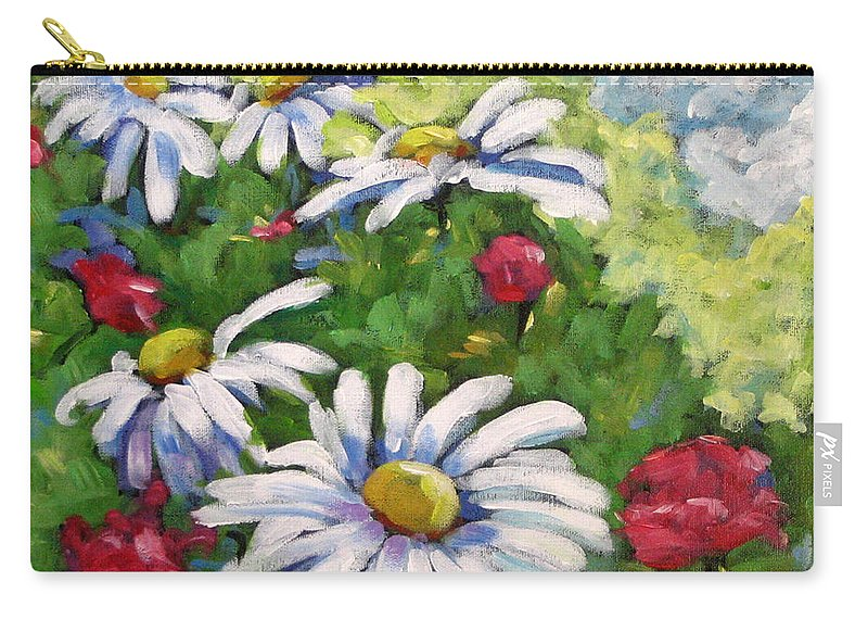 Daysy Carry-all Pouch featuring the painting Marguerites 002 by Richard T Pranke
