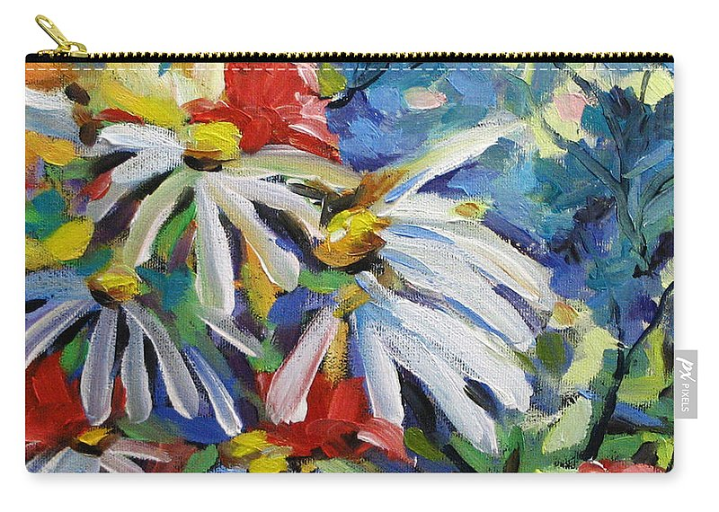 Art Carry-all Pouch featuring the painting Marguerites by Richard T Pranke
