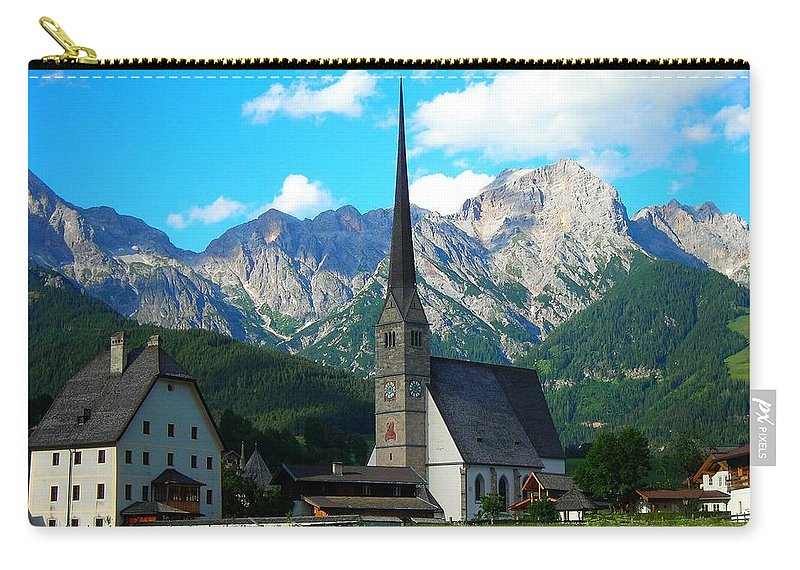 Europe Carry-all Pouch featuring the photograph Maria Alm Am Steinernen Meer by Juergen Weiss