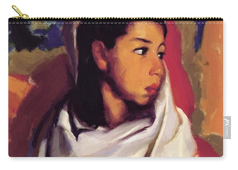 Maria Carry-all Pouch featuring the painting Maria Lucinda 1917 by Henri Robert