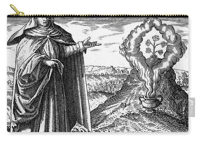 Historic Carry-all Pouch featuring the photograph Maria The Jewess, First True Alchemist by Wellcome Images