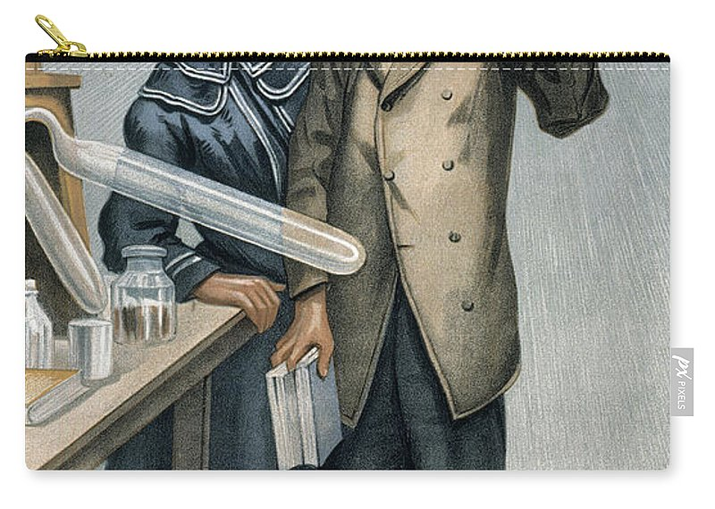 1904 Carry-all Pouch featuring the photograph Marie And Pierre Curie by Granger