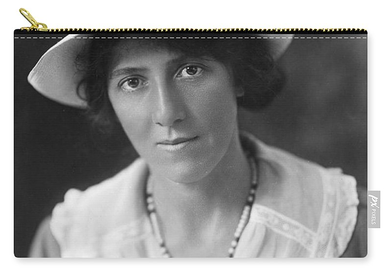 20th Century Carry-all Pouch featuring the photograph Marie Stopes (1880-1958) by Granger